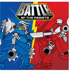battle of the robots background design vector image