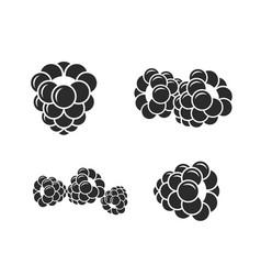 Blackberry icon set fresh berries on white vector