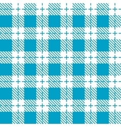 Blue and white tablecloth seamless pattern vector image