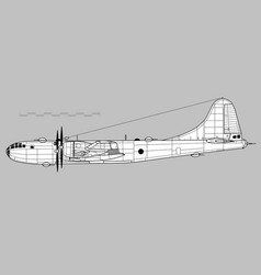 boeing b-29 superfortress vector image