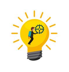 Bulb light icon vector