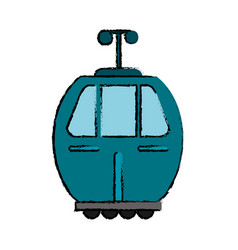 Cable car transport icon vector