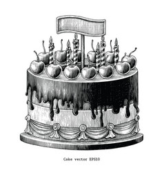 cake hand drawing vintage clip art isolated vector image
