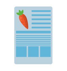 carrot nutrition facts label template vector image