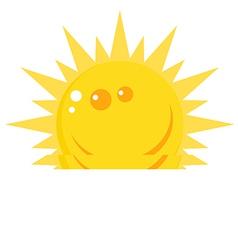 Cartoon sun vector