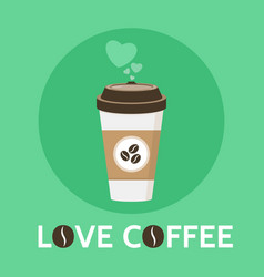 Coffee cup love coffee signe vector