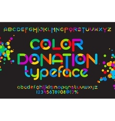 Color donation typeface vector