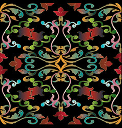 colorful baroque seamless pattern vector image