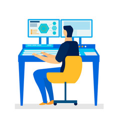 Computer assisted design flat vector