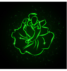 couple dancing tango top view vector image