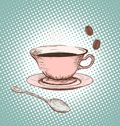 Cup of coffee Doodle image vector image