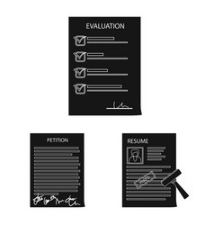 Design form and document symbol set of vector