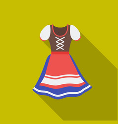 dirndl icon in flat style isolated on white vector image