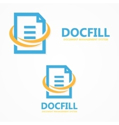 document file logo vector image
