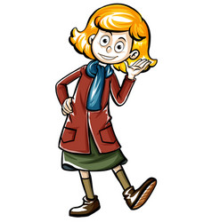 Drafting human character for teenage girl vector