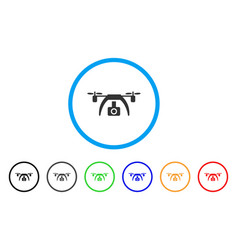 drone video camera rounded icon vector image