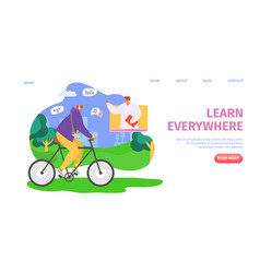 Education online learn everywhere vector