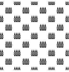 fence village icon simple black style vector image