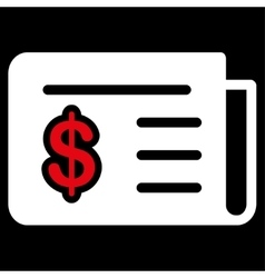 Financial News Icon from Commerce Set vector image