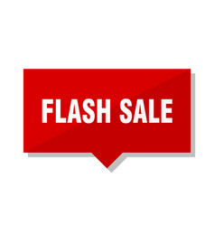 Flash sale red tag vector