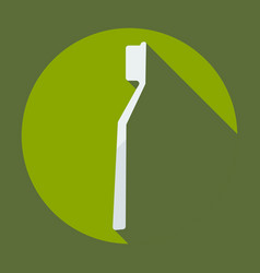 Flat modern design with shadow icons tooth brush vector