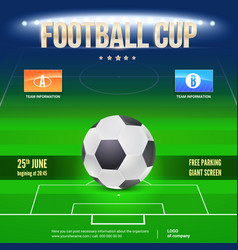 Football event poster design night football vector