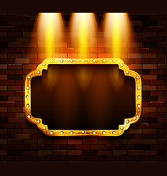 gold frame in retro style vector image