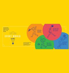 graphic design sport concept sports equipment vector image