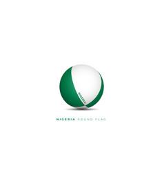 Green white ball nigeria round flag design vector