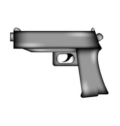 Gun sign icon vector