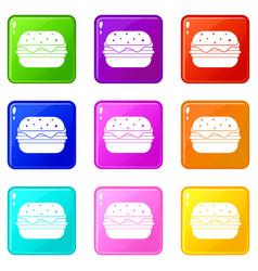 hamburger icons 9 set vector image