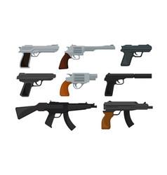 Handguns or pistol models with firing trigger vector