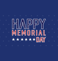 Happy memorial day banner collection vector