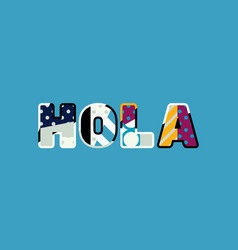 Hola concept word art vector
