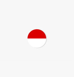 Indonesia circle flag graphic design vector