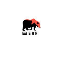 interesting symbol bear vector image