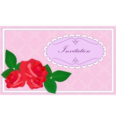 invitation with roses vector image