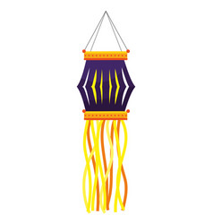 Lantern candle hanging vector