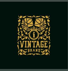 Letter i vintage logo design vector