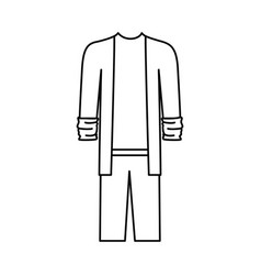 male clothes with sport jacket and pant in vector image