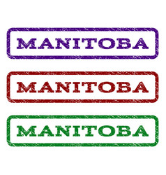 Manitoba watermark stamp vector