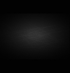 Metal black grid with holes background vector