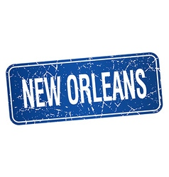 New Orleans blue stamp isolated on white vector
