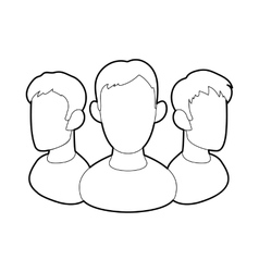 Office team icon in outline style vector image