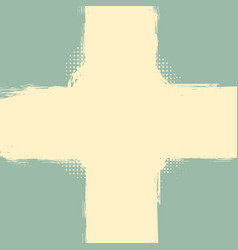 old pastel grunge cross frame vector image