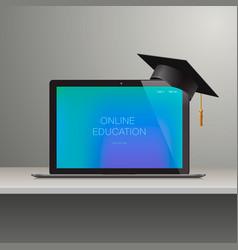 Online learning webinar education vector