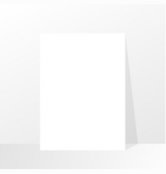 paper with shadow empty paper mockup mockup style vector image