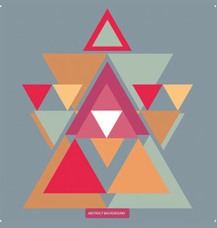 Pattern with colorful geometric shapes vector