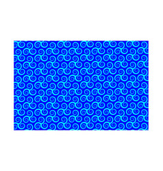 pattern with swirling triple spiral or triskele vector image