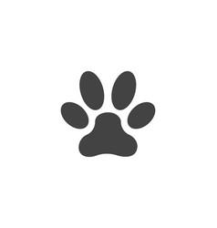 paw icon design vector image